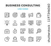 business consulting line icons... | Shutterstock .eps vector #1197346060