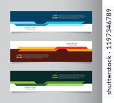 vector abstract web banner... | Shutterstock .eps vector #1197346789