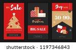 modern flat merry christmas new ... | Shutterstock .eps vector #1197346843
