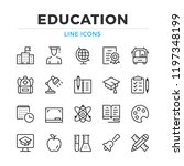 education line icons set.... | Shutterstock .eps vector #1197348199