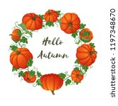 harvest  thanksgiving ... | Shutterstock .eps vector #1197348670