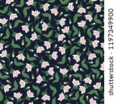 botanical seamless pattern with ... | Shutterstock .eps vector #1197349900