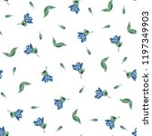 botanical seamless pattern with ... | Shutterstock .eps vector #1197349903