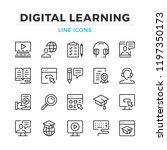 digital learning line icons set.... | Shutterstock .eps vector #1197350173