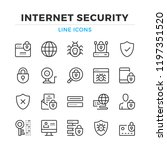 Internet Security Line Icons...