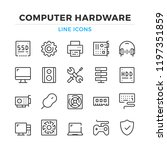 computer hardware line icons... | Shutterstock .eps vector #1197351859