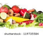 lot of different vegetables | Shutterstock . vector #119735584