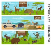 hunting sport of safari banners ... | Shutterstock .eps vector #1197356263
