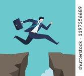 business concept of businessman ... | Shutterstock .eps vector #1197356689