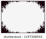 halloween frame october 31st.... | Shutterstock .eps vector #1197358543
