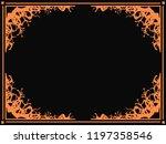 halloween frame october 31st.... | Shutterstock .eps vector #1197358546