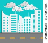 abstract white city  cloud... | Shutterstock .eps vector #1197358906