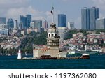maiden's tower in the bosphorus ... | Shutterstock . vector #1197362080