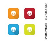 colorful skull icons with long...