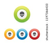 colorful skull round icons