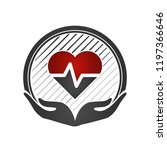 heart care concept. cardio... | Shutterstock .eps vector #1197366646
