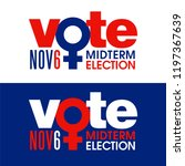 the word vote is combined with... | Shutterstock .eps vector #1197367639