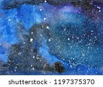 abstract watercolor background. ... | Shutterstock . vector #1197375370