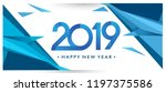 happy new year 2019 greeting... | Shutterstock .eps vector #1197375586