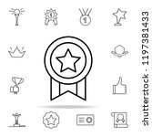 medal icon. succes and awards...   Shutterstock .eps vector #1197381433