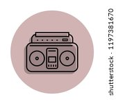 music tape recorder icon in...