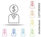 businessman icon. elements of... | Shutterstock .eps vector #1197385003