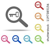 keyword research icon. elements ... | Shutterstock .eps vector #1197385156