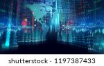 digital city scape with digit... | Shutterstock . vector #1197387433