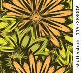 seamless floral background.... | Shutterstock .eps vector #1197388009