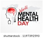 world mental health day design... | Shutterstock .eps vector #1197392593