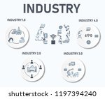 industry infographic icon... | Shutterstock .eps vector #1197394240