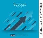 return on investment roi... | Shutterstock .eps vector #1197395323