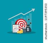 return on investment roi... | Shutterstock .eps vector #1197395353