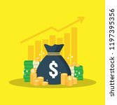 return on investment roi... | Shutterstock .eps vector #1197395356