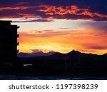 Scottsdale,Arziona, stunning colorful desert sunset landscape