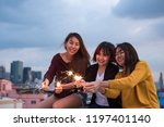 happy group of asian girl... | Shutterstock . vector #1197401140