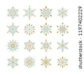 set of snowflakes christmas... | Shutterstock .eps vector #1197402229
