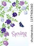 butterfly pea flowers in blue ... | Shutterstock .eps vector #1197406360