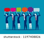 young business holding up... | Shutterstock .eps vector #1197408826