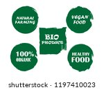 organic  bio  eco  natural... | Shutterstock .eps vector #1197410023