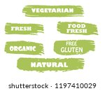 organic  bio  eco  natural... | Shutterstock .eps vector #1197410029