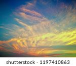 twilight sky background with... | Shutterstock . vector #1197410863