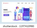 vector web site linear art... | Shutterstock .eps vector #1197410980