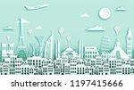 famous landmark for travel ... | Shutterstock .eps vector #1197415666