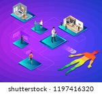 isometric smart health and... | Shutterstock .eps vector #1197416320