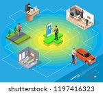 isometric smart health and... | Shutterstock .eps vector #1197416323