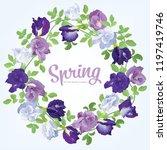 butterfly pea flowers in blue ... | Shutterstock .eps vector #1197419746