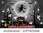party halloween illustration... | Shutterstock .eps vector #1197421066
