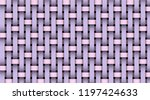 pink violet realistic rattan...   Shutterstock .eps vector #1197424633