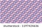 pink violet realistic rattan... | Shutterstock .eps vector #1197424636